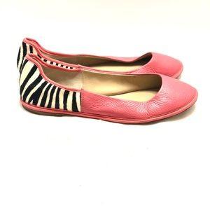 Pink leather flats Diane von Furstenberg